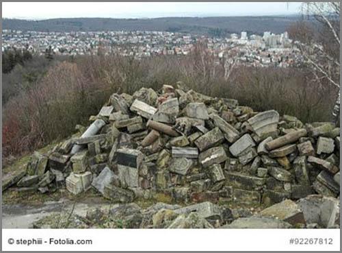 Die Spitze des Monte Scherbelino in Stuttgart