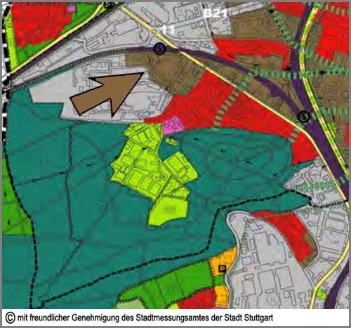 Im Flächennutzungsplan braun: Mischgebiete