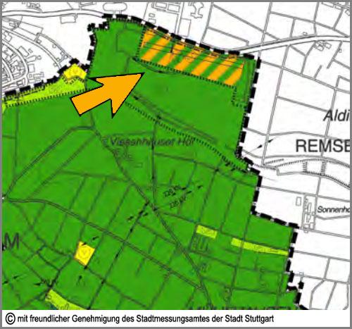 Im Flächennutzungsplan orange: Sondergebiete