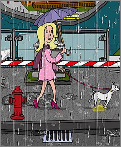 Nicht zu übersehen: ein knallroter Hydrant
