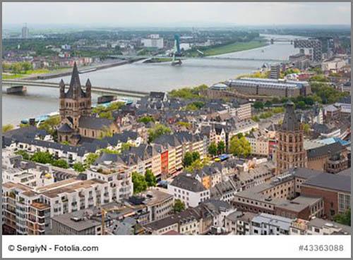 Folgen teilweise Wegen aus der Römerzeit: die Straßen von Köln