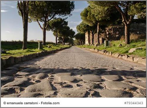 Eine alte Römerstraße: die Via Appia