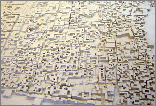 Ein Modell der Altstadt von Aleppo