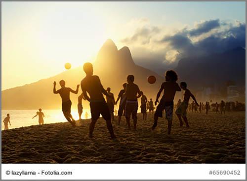 Der Strand von Rio de Janeiro