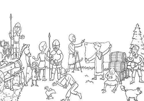 Ausmalbild Mittelalter 1