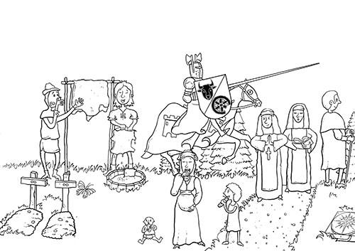 Ausmalbild Mittelalter 2